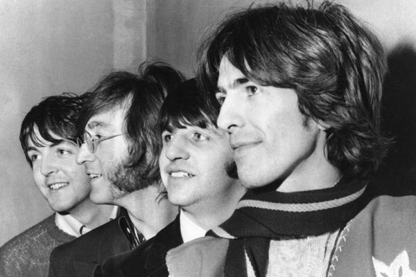 The Beatles, from left, Paul McCartney, John Lennon, Ringo Starr and George Harrison, on Feb. 28, 1968. (AP Photo, File)