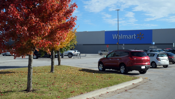 The Walmart in Republic, Missouri, where white supremacist Frazier Glenn Cross Jr. and John Reidle purchased a shotgun used in an April 2014 shooting that left three people dead.