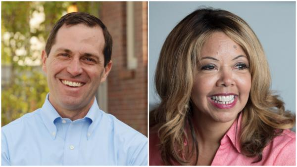 Congressman-elect Jason Crow, CO-6, left, and Congresswoman-elect Lucy McBath, GA-6, right.