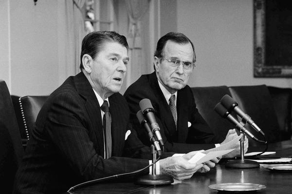 Bush ran against Ronald Reagan for the GOP presidential nomination in 1980 but lost. Reagan chose him to be his vice president.