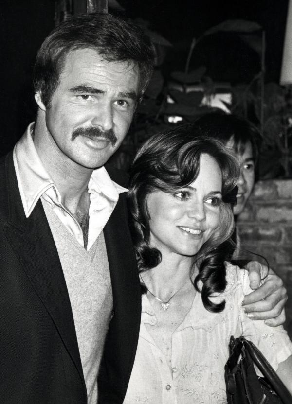 """""""He was a very important part of my life, but for a tiny little part of my life,"""" Fields says of Burt Reynolds. They are pictured together in March 1978."""