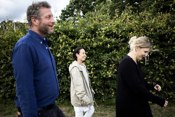 "Uri Berliner, Agneta Berliner and Erika Pettersson walk near Agneta's house. ""Even though we had just met it felt good to be around my newfound relatives,"" Uri says."