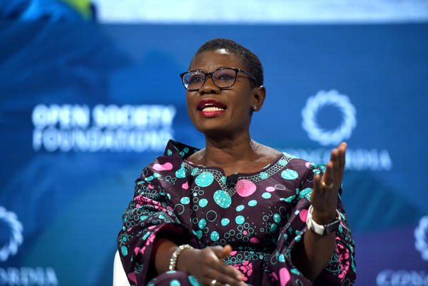 "Yvonne Aki-Sawyerr, the new mayor of Freetown in Sierra Leone, speaks at the 2018 Concordia Annual Summit in New York City. ""For decades, there had been no structure, no focused thinking of a strategy for the city,"" she says. ""The way my brain works is with plans. I have to have a to-do list."""