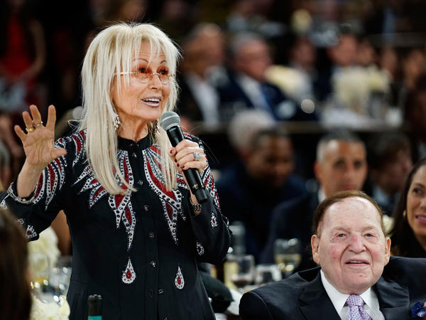 Philanthropist Miriam Adelson is the wife of prominent Republican donor Sheldon Adelson. The Adelsons donated more than $113 million to the GOP in the last election cycle.
