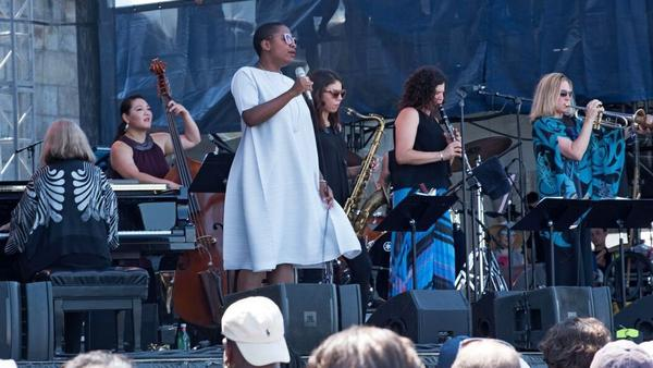 Jazz supergroup Artemis performs at the Newport Jazz Festival.