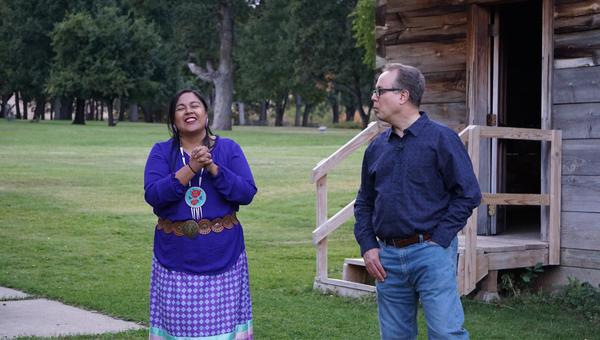 Glen Hamilton and Emily Washines met in person for the first time earlier this fall at Fort Simcoe on the Yakama reservation.