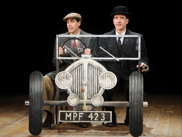 Matthew Macfadyen (right) and Stephen Mangan played Jeeves and Wooster, respectively, in <em>Perfect Nonsense</em>, a 2013 stage production. The characters were first created by comic author P.G. Wodehouse.