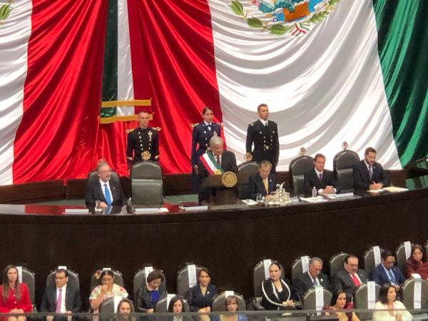 Inauguration of Andrés Manuel López Obrador, Dec. 1, 2018, Mexico City.