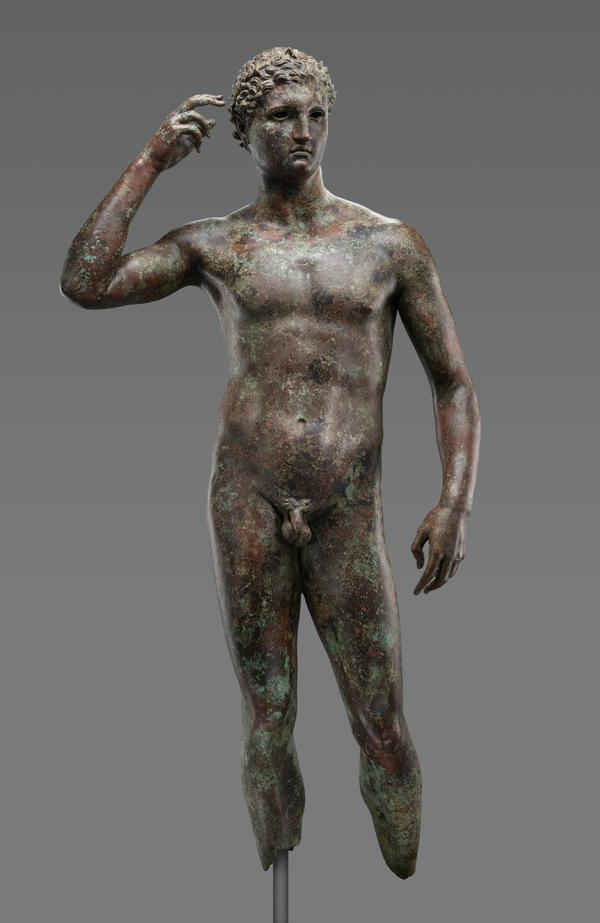 "Ownership of ""Statue of a Victorious Youth,"" a bronze sculpture of ancient Greek origin, is being disputed. An American museum is trying to keep it."
