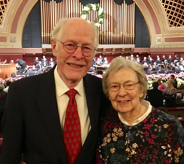 This year, Robert and Bunny Carlson will attend their 61st consecutive trip to hear Handel's Messiah performed by the University Musical Society.