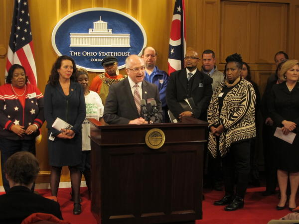 Rep. Kent Smith (D-Euclid) calls for a moratorium to the state takeover of local schools.