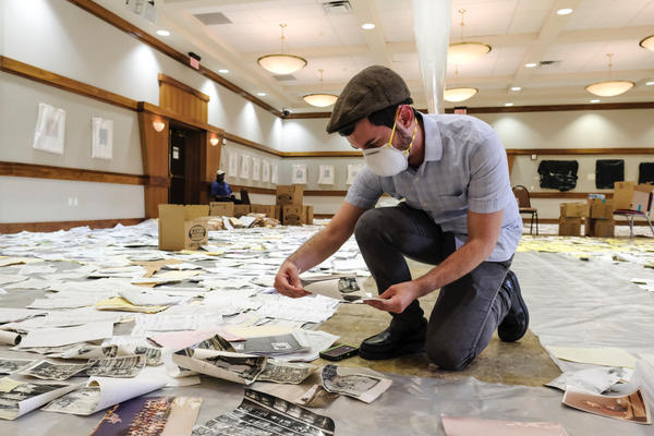 The document recovery effort at Congregation Beth Yeshurun after Hurricane Harvey in 2017.