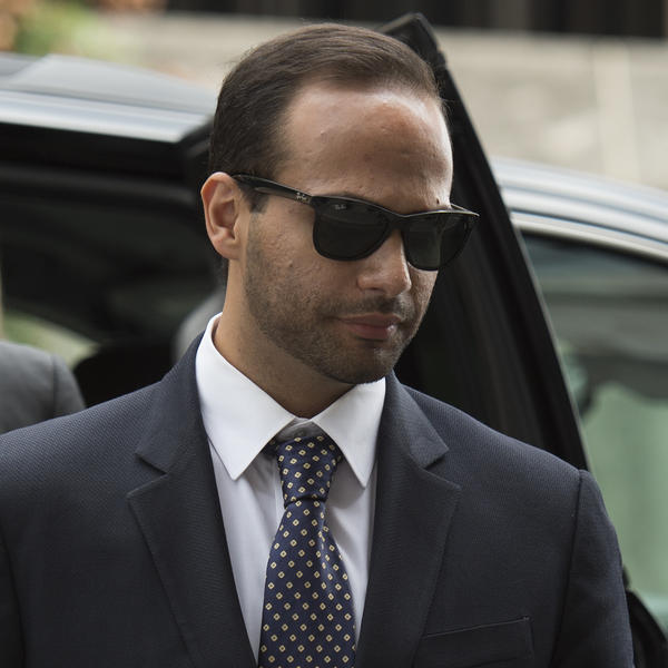 George Papadopoulos arrives at court for his sentencing on Sept. 7, 2018.