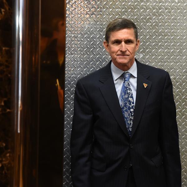 Michael Flynn arrives at Trump Tower on Jan. 4, 2017.