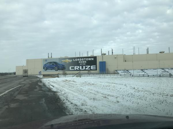 The GM Lordstown plant opened in 1966. It's only vehicle -- the Chevy Cruze -- will be discontinued next year, but UAW officials are trying to convince GM to bring another model to the plant.