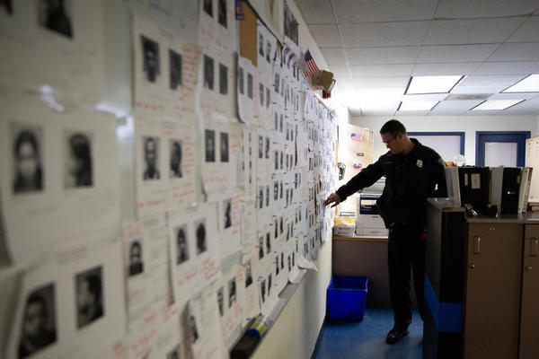 Bruckhart works in the New Haven Police Department's Fair Haven substation. Like many law enforcement agencies across the country, the department doesn't have enough officers. New Haven is 100 officers short.