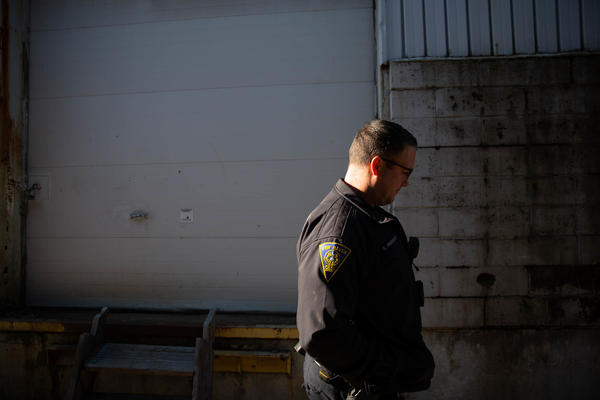 There are supposed to be six officers patrolling Bruckhart's territory, but there are days when there are half that.