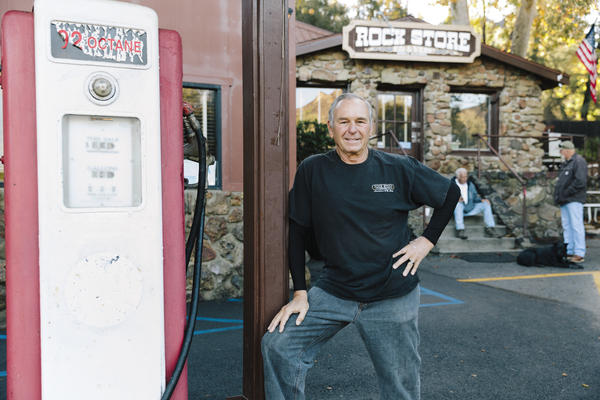 """Rich Savko's family has owned the Rock Store in Cornell, Calif., since 1961. The restaurant became a community center after the Woolsey Fire. """"People were looking for information, and there was always somebody here that they could get firsthand information from, and that meant a lot to them,"""" Savko says. """"Plus they could share their stories and have a cup of coffee."""""""
