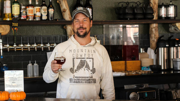 Ron Yovich opened a microbrewery in Frederick, Colo., where he uses the hops he grows to make his beer.