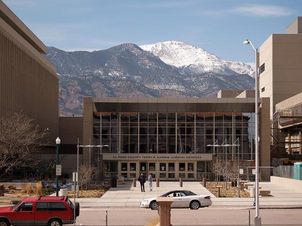 The El Paso County Justice Center in Colorado Springs, Colorado
