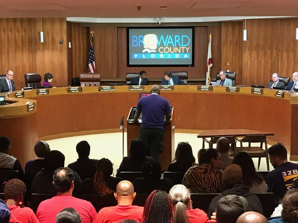 Broward County commissioners agreed Tuesday to raise the county's base living wage to $13.27 per hour.