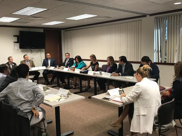 Rep. Debbie Wasserman Schultz and Rep.-elect Debbie Mucarsel-Powell met with Venezuelan community activists on Monday to discuss that country's humanitarian crisis.