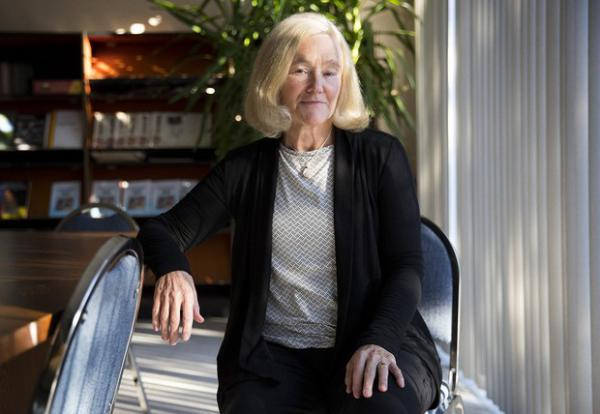 <p>Professor of entomology at Washington State University Betsy Beers poses for a portrait on Monday, Nov. 19, 2018, in Wenatchee.</p>