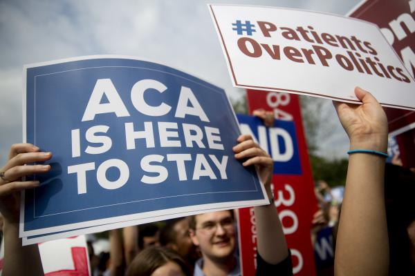 In 2015, demonstrators in Washington, D.C., urged Supreme Court justices to save the Affordable Care Act from a legal challenge. The federal health law survived, but last week U.S. District Judge Reed O'Connor ruled it invalid. An appeal of his controversial decision is underway.