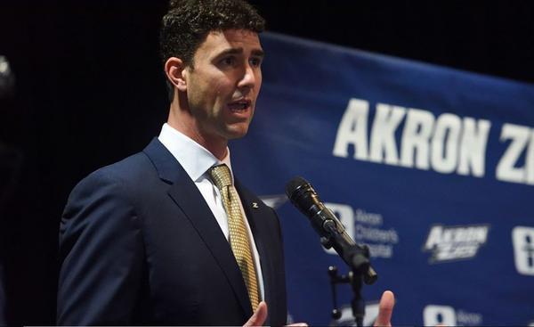 Tom Arth, 37, is the University of Akron's new head football coach