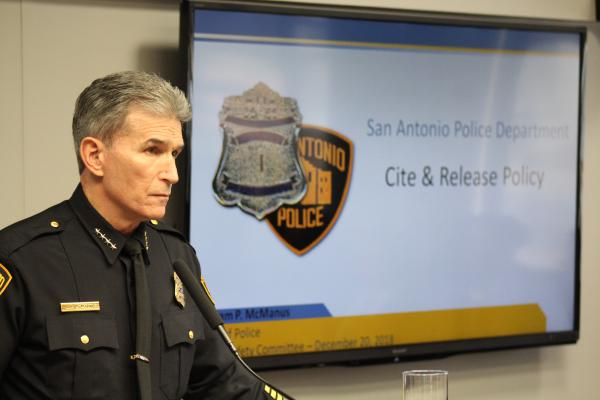 San Antonio Police Chief William McManus