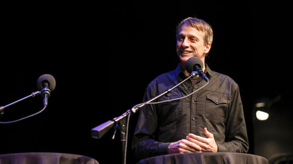 Tony Hawk appears on <em>Ask Me Another</em> at the Balboa Theatre in San Diego, California.
