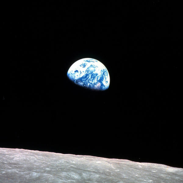 "The iconic ""Earthrise"" image taken by astronaut Bill Anders on Apollo 8 on Christmas Eve 1968. Friday marked the 50th anniversary of the Apollo 8 liftoff."