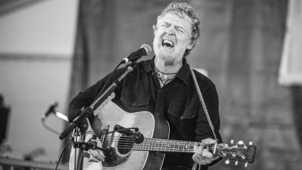 Glen Hansard performs at the Newport Folk Festival 2018.