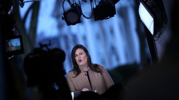 "White House press secretary Sarah Sanders says the senior staffers who remain ""really believe in what we are doing and believe that we're making a difference."""