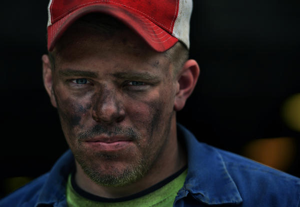 Kyle Johnson, 22, after an overnight shift at a coal mine in Buchanan County, Va. In the 2016 campaign, Donald Trump promised more work in the coal industry.