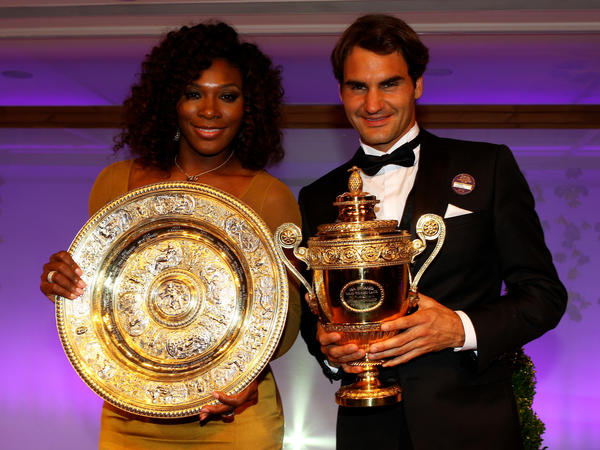 Serena Williams and Roger Federer, shown here at the Wimbledon Championships 2012 Winners Ball, are set to play each other at a mixed doubles match on New Year's Day at the Hopman Cup in Perth, Australia.