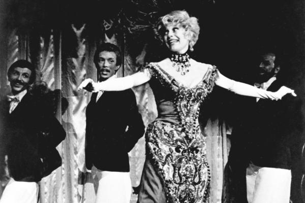 Channing stars in the revival production of <em>Hello, Dolly!</em> at the Lunt-Fontanne Theatre in New York City in March 1978. Channing originated the role of Mrs. Dolly Gallagher Levi in the Broadway musical in 1964.