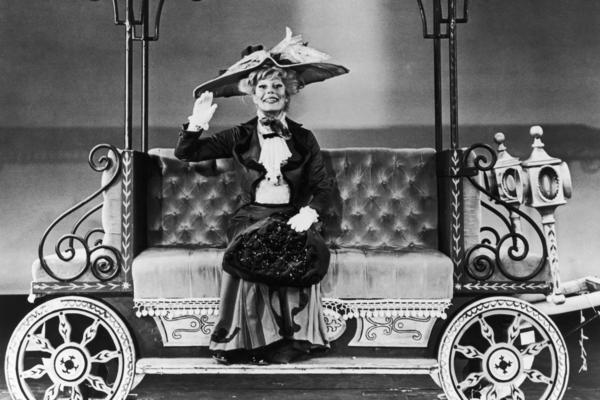 American actress and singer Carol Channing starred in the musical <em>Hello, Dolly!</em> in New York City in 1964. The play won 11 Tony Awards in 1964 including best musical, and Channing won best actress. She reprised the role several times throughout her long career.