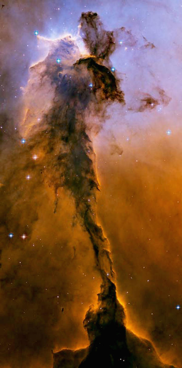 This image, released on April 25, 2005, shows the Eagle Nebula.