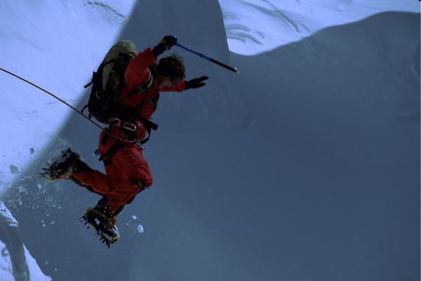 Bear Grylls on Everest summit 1998, aged 23. The youngest Brit at the time to climb the summit. (Bear Grylls Ventures)