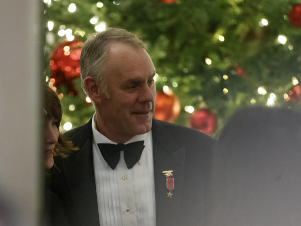 The farewell letter that former Interior Secretary Ryan Zinke posted to Twitter was barely legible, although he did also type out his missive.