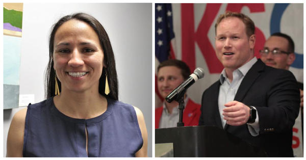 U.S. Reps. Sharice Davids and Steve Watkins officially joined Congress this week and cast votes reflecting their differences, and the split between Republicans and Democrats.