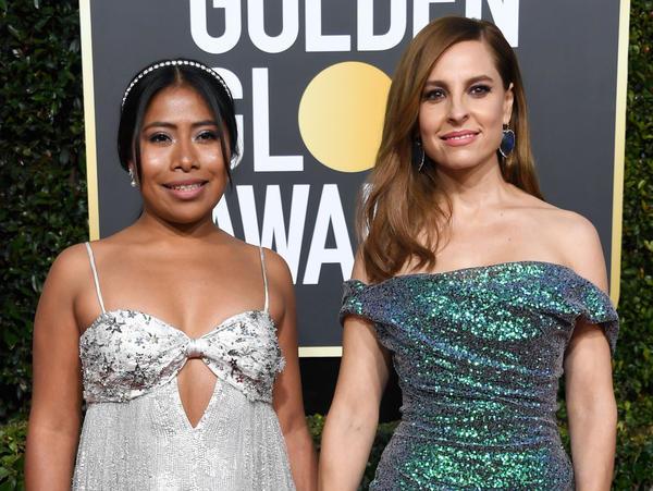 Yalitza Aparicio, left, and Marina De Tavira, right