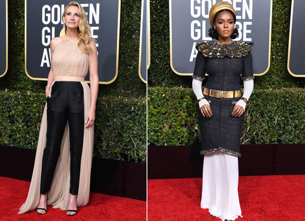 Julia Roberts, left, and Janelle Monae, right