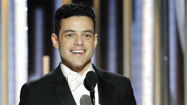 Rami Malek won a Golden Globe for his performance in the drama <em>Bohemian Rhapsody</em>, in which he played iconic singer Freddie Mercury.