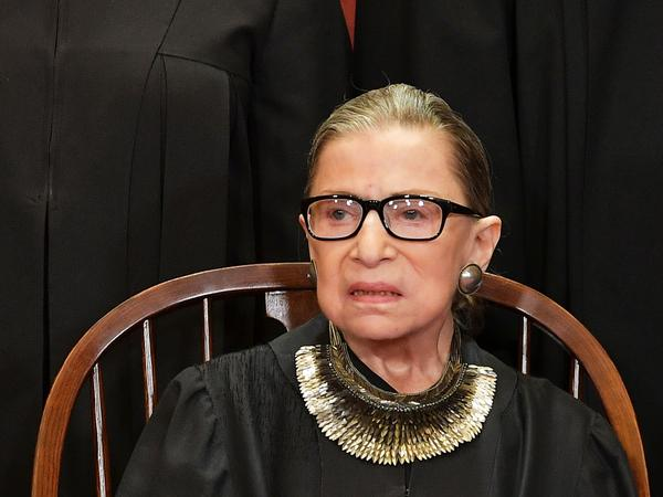 Associate Justice Ruth Bader Ginsburg poses for the official photo at the Supreme Court in Washington, D.C., on Nov. 30, 2018.
