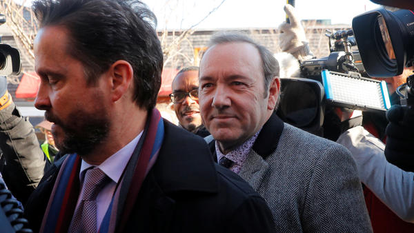 Actor Kevin Spacey appeared in Nantucket District Court in Nantucket, Mass., where he faces a sexual assault charge.