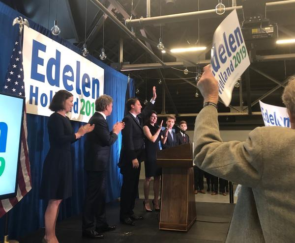 Former State Auditor Adam Edelen officially throws his hat into the ring in the 2019 Democratic gubernatorial primary. The kickoff was held at the Old Fayette Courthouse in Lexington on Monday, January 7, 2019.