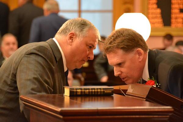 House Speaker Larry Householder (R, Glenford) and House Clerk Brad Young
