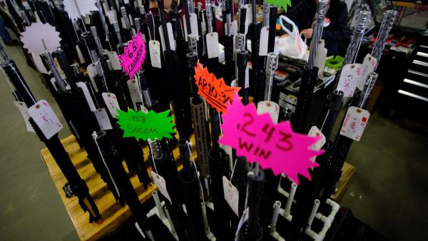 Wanenmacher's Tulsa Arms Show in Tulsa, Oklahoma, would be among the thousands of gun shows across the country affected by legislation requiring universal background checks on gun sales.